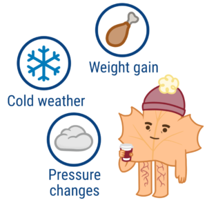 how cold weather affects varicose veins